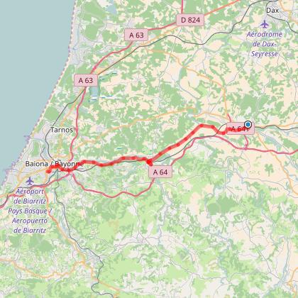 Pré route d'été Peyrehorade-Bayonne