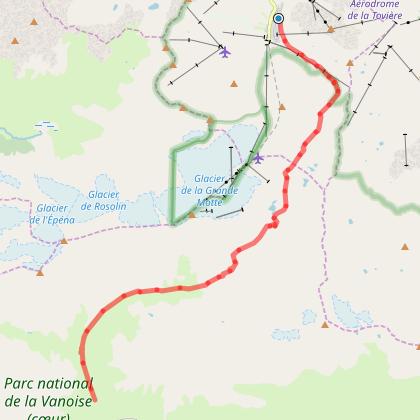 Tour de la Grande Casse - Départ Tignes - Jour 1 - Tignes Val Claret -> Refuge d'Entre 2 eaux