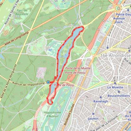 Balade autour des lacs du Bois de Boulogne