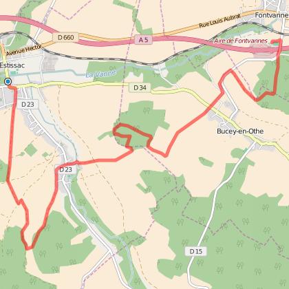 Trail des portes du pays d'Othe 13 km - 2015.