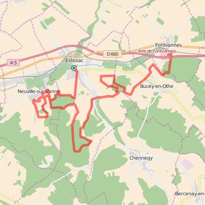 Trail des portes du pays d'Othe 26 km - 2015.
