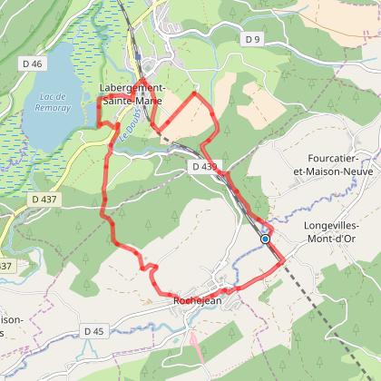 Doubs Rando' - Les gorges du Fourperet et le mont de la croix - Les Longevilles-Mont-d'Or