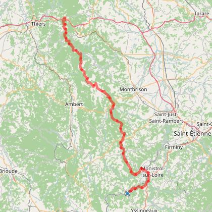 étape 2 : de Retournac à Chabreloche