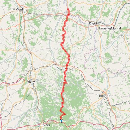 Etape 3 : De Chabreloche à Saint-Aubin-sur-Loire