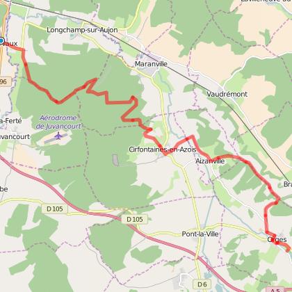 GR 145® La Via Francigena - Clairvaux - Orges Moulin de la Fleuristerie