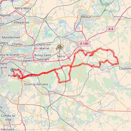 La Randonnée Plésséenne - parcours de 103 km