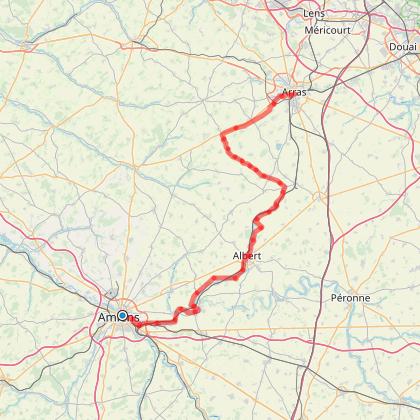 La Véloroute N°32 de la Mémoire - de Amiens à Arras