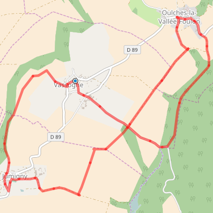 Circuit des trois villages : Jumigny Oulches la Vallée Foulon et Vassogne