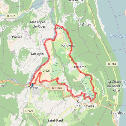 YENNE.Randonnée du petit bugey le 1er mai parcours 28km 500m dén+