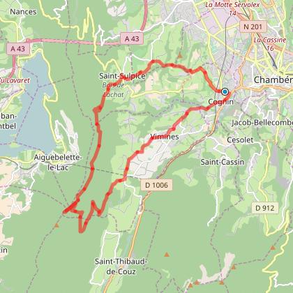 Mont Grelle, Col St Michel, Col du Crucifix depuis Cognin