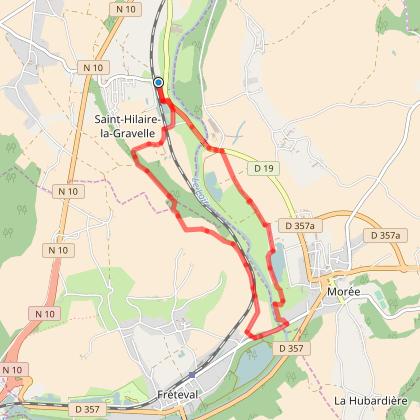 Jolie balade a partir de Saint Hilaire la Gravelle de 9km