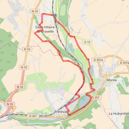 Belle balade depuis Saint Hilaire la Gravelle de 13km