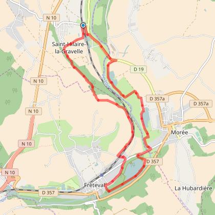 Belle balade au départ de Saint Hilaire la Gravelle 12,8km