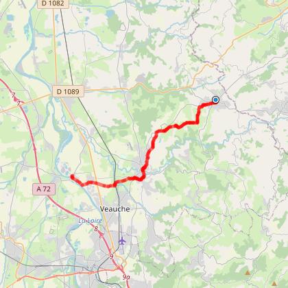 Sentier de Saint-Jacques Lyon-Le Puy en Velay ( de Saint-Denis-sur-Coise à Rivas)