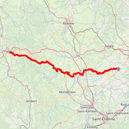 Chemin de Montaigne - GR 89 - De Brussieu à Thiers