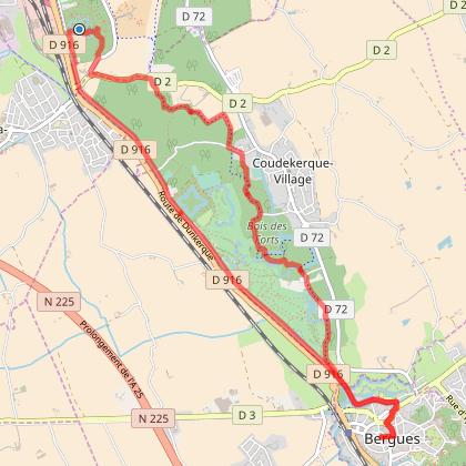 Circuit vélo Dunkerque-Bergues
