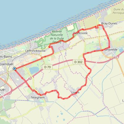 circuit vélo des dunes de Flandres