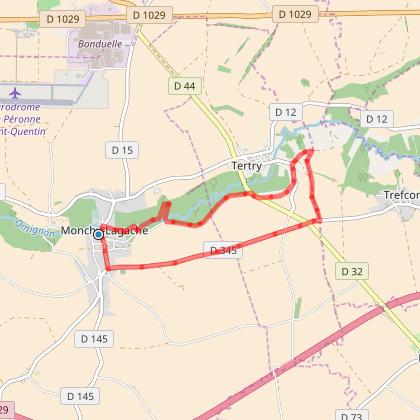 MONCHY LAGACHE.   le trinquet beaucourt  7,9  kms