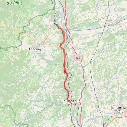 Ballade en Ardèche (départ Serrières en Ardèche)