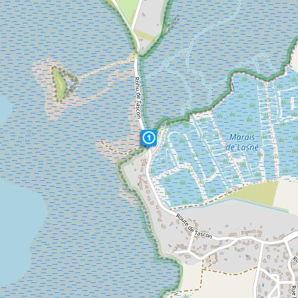 Départ parking d'accès à l'île Tascon