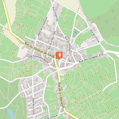Panneau Départ - Place de la mairie à Cramant