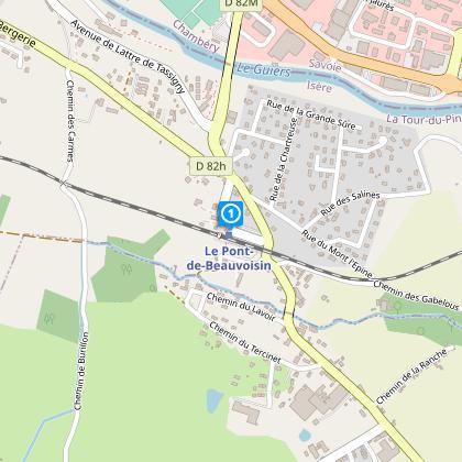 Départ / parking :  Gare SNCF de Pont de Beauvoisin- ligne Lyon / Chambéry