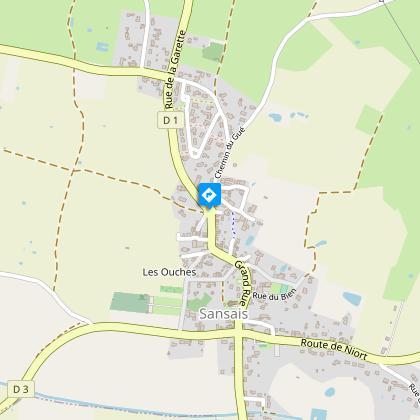 Sansais-La Garette et son village-rue