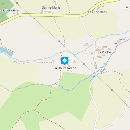le lieu-dit Haute-Roche (propriété privée)