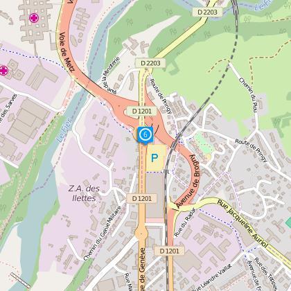 parcours vélo - liaison point i la balme-de-sillingy -> annecy lac