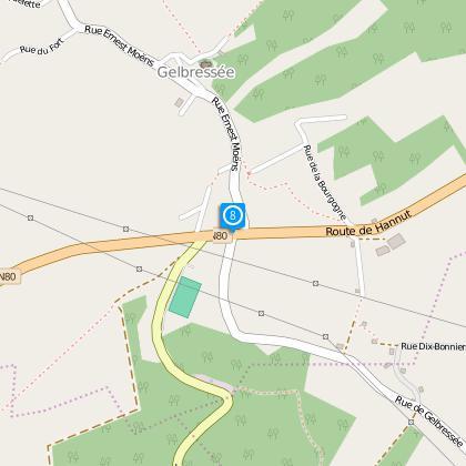 Prendre à droite sur Route de Hannut.