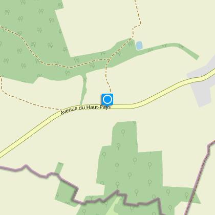 Tournez à droite et suivez l'Avenue des Hauts-Pays