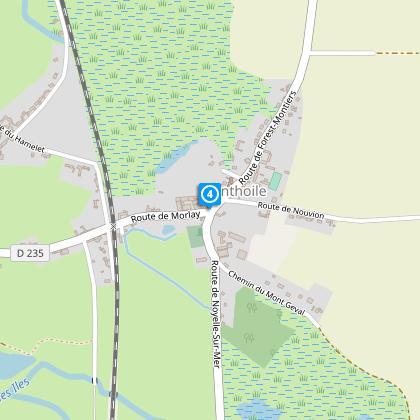 Quitter le Circuit du Héron. Direction Camping la Safrière / Morlay (D235).
