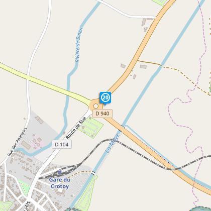 Au rond point prendre à gauche, direction Centre ville