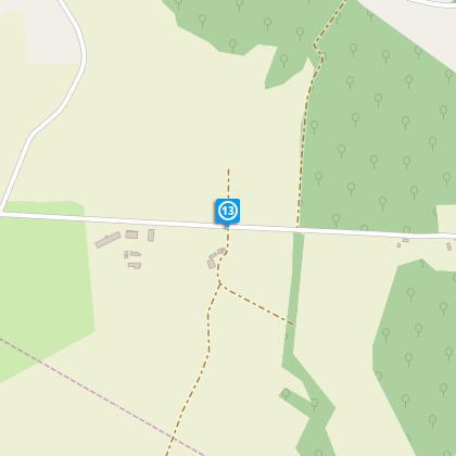Route à gauche après l'abbaye