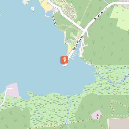 Ponton de pêche du lac de Parentis Biscarrosse