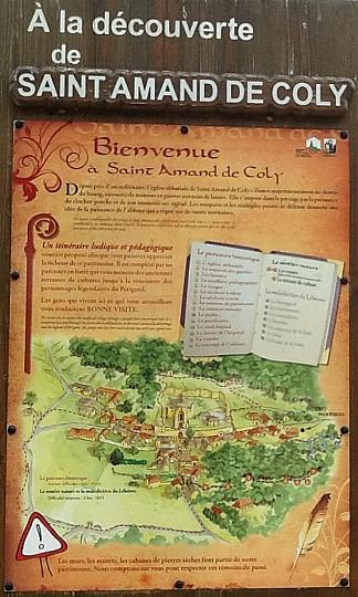 Itinéraire de St Amand de Coly-Plus Beaux Vill ...