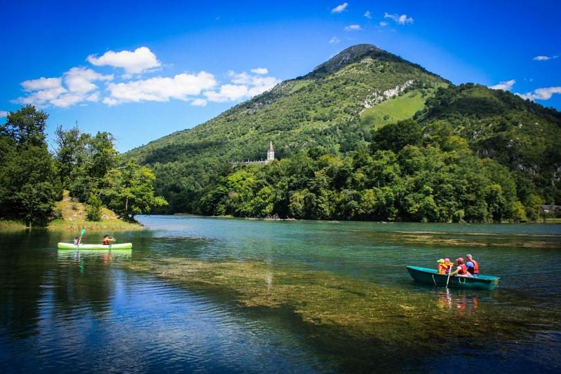 Le lac de Castet à Bielle en Vallée d'Ossau
