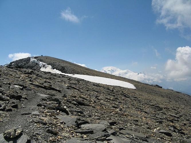 Mt Buet et Mt Blanc vus de l'arête du Buet