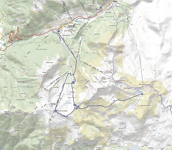 Lac Gignoux par TX des Chalmettes et TS des Gondrans