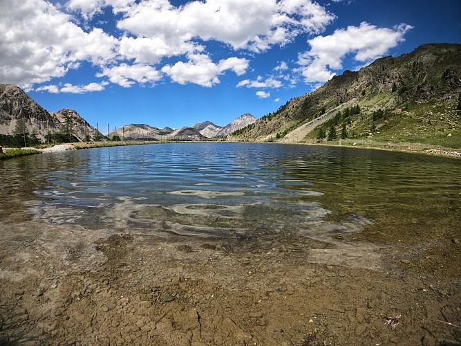 Balades et randonnées de Montgenèvre - Le lac des Anges par le télémix des Chalmettes