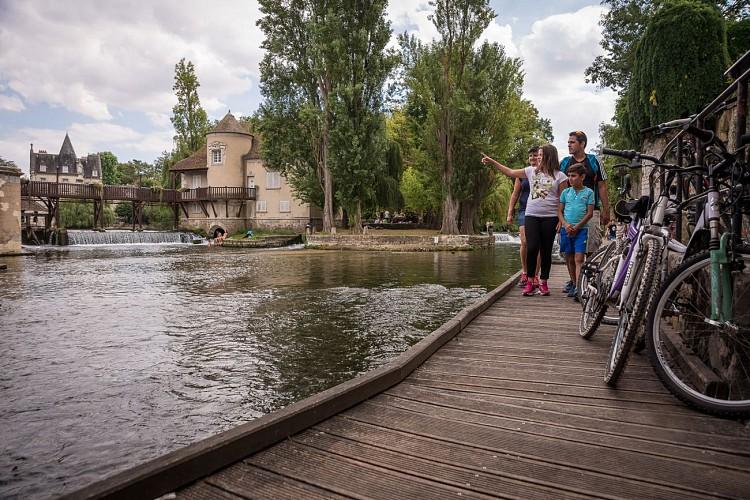 Radroute Scandiberique in der südlichen Seine-et-Marne : von Bois le Roi bis Souppes-sur-Loing