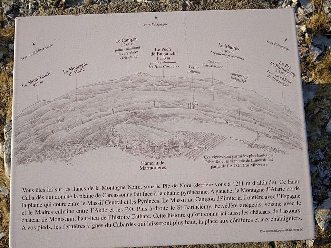 point de vue  à la grotte de Limousis