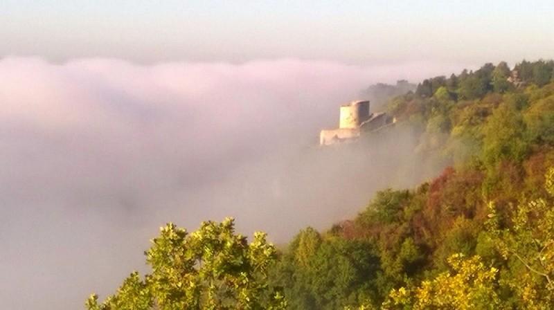 La Roche-Guyon par une belle matinée d'automne