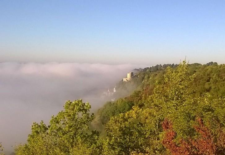 La brume commence a se lever