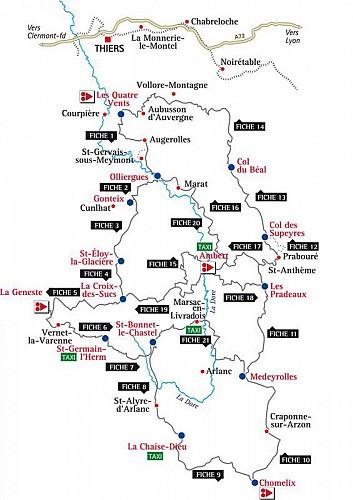 Carte des circuits VTT