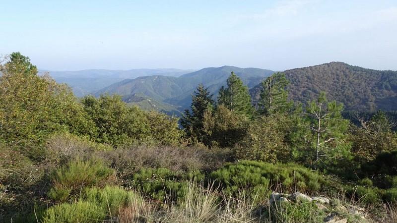du col du Faou, vue vers Vallée de l'Orb