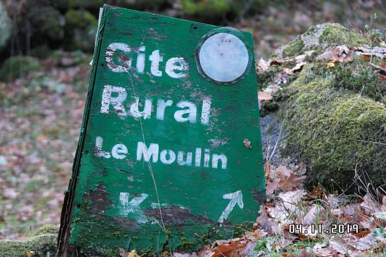 Old railway start from Moulin de Sansonneche
