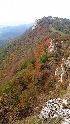 Crêtes au dessus de la Beaume-Cornillane