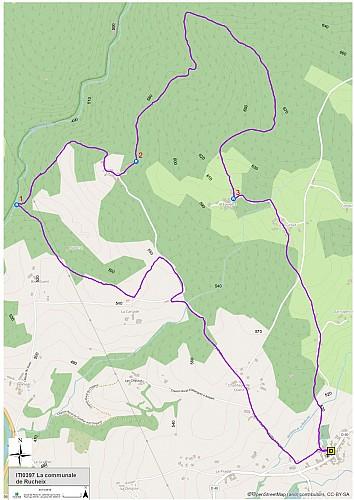 La forêt communale de Rucheix (carte)