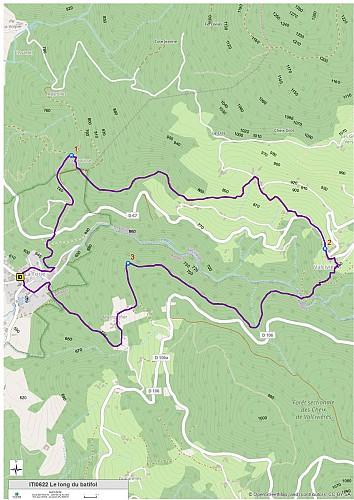 Le long du Batifol (carte)